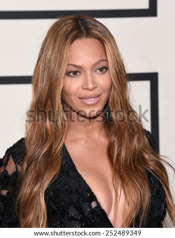 LOS ANGELES - FEB 08:  Beyonce arrives to the Grammy Awards 2015  on February 8, 2015 in Los Angeles, CA                 - stock photo