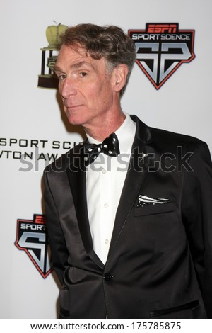 LOS ANGELES  - FEB 9:  Bill Nye at the ESPN Sport Science Newton Awards at Sport Science Studio on February 9, 2014 in Burbank, CA - stock photo