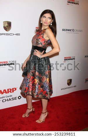 LOS ANGELES - FEB 2:  Blanca Blanco at the AARP 14th Annual Movies For Grownups Awards Gala at a Beverly Wilshire Hotel on February 2, 2015 in Beverly Hills, CA - stock photo
