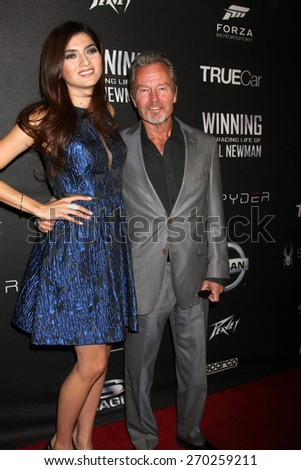 "LOS ANGELES - FEB 16:  Blanca Blanco, John Savage at the ""WINNING: The Racing Life of Paul Newman"" Pre-Premiere Reception at the Roosevelt Hotel on April 16, 2015 in Los Angeles, CA - stock photo"