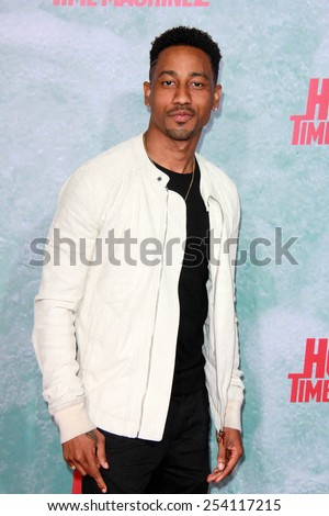 "LOS ANGELES - FEB 18:  Brandon T. Jackson at the ""Hot Tub Time Machine 2"" Los Angeles Premiere at a Village Theater on February 18, 2015 in Westwood, CA - stock photo"