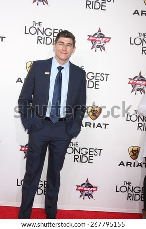 "LOS ANGELES - FEB 6:  Brett Edwards at the ""The Longest Ride"" Los Angeles Premiere at the TCL Chinese Theater on FEB 6, 2015 in Los Angeles, CA - stock photo"
