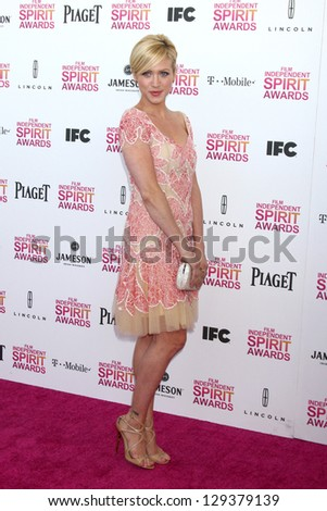 LOS ANGELES - FEB 23:  Brittany Snow attends the 2013 Film Independent Spirit Awards at the Tent on the Beach on February 23, 2013 in Santa Monica, CA - stock photo
