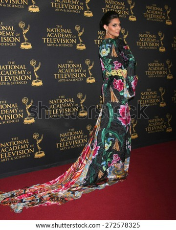 LOS ANGELES - FEB 24:  Camila Banus at the Daytime Emmy Creative Arts Awards 2015 at the Universal Hilton Hotel on April 24, 2015 in Los Angeles, CA - stock photo