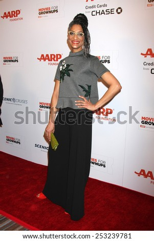 LOS ANGELES - FEB 2:  Carla Hall at the AARP 14th Annual Movies For Grownups Awards Gala at a Beverly Wilshire Hotel on February 2, 2015 in Beverly Hills, CA - stock photo