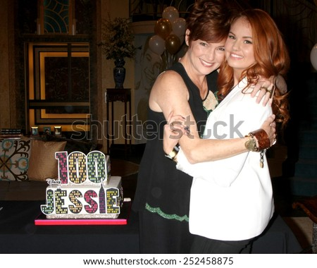 "LOS ANGELES - FEB 12:  Carolyn Hennesy, Debby Ryan at the Disney Channel's ""Jessie"" Celebrates 100 Episodes at a Hollywood Center Studios on February 12, 2015 in Los Angeles, CA - stock photo"