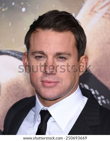 "LOS ANGELES - FEB 02:  Channing Tatum arrives to the ""Jupiter Ascending"" Los Angeles Premiere  on February 2, 2015 in Hollywood, CA                 - stock photo"
