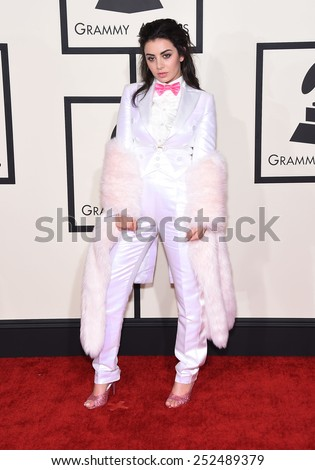 LOS ANGELES - FEB 08:  Charli XCX arrives to the Grammy Awards 2015  on February 8, 2015 in Los Angeles, CA                 - stock photo
