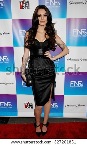 LOS ANGELES - FEB 8 - Cher Lloyd arrives at the 16th Annual Friends N Family Pre Grammy Party on February 8, 2013 in Los Angeles, CA              - stock photo