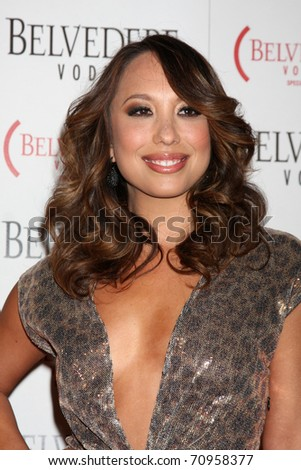 LOS ANGELES - FEB 10:  Cheryl Burke arrives at the Belvedere RED Special Edition Bottle Launch at Avalon on February 10, 2011 in Los Angeles, CA