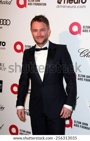 LOS ANGELES - FEB 22:  Chris Hardwick at the Elton John Oscar Party 2015 at the City Of West Hollywood Park on February 22, 2015 in West Hollywood, CA - stock photo