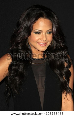 LOS ANGELES - FEB 9:  Christina Milian arrives at the ROC NATION Annual Pre-Grammy Brunch at the Soho House on February 9, 2013 in West Hollywood, CA - stock photo