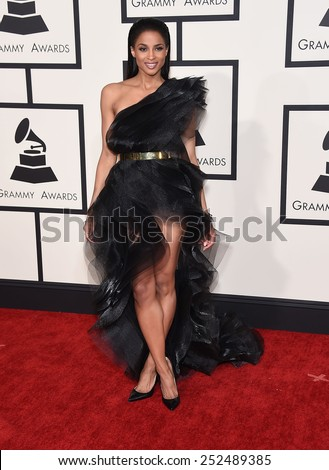LOS ANGELES - FEB 08:  Ciara arrives to the Grammy Awards 2015  on February 8, 2015 in Los Angeles, CA                 - stock photo