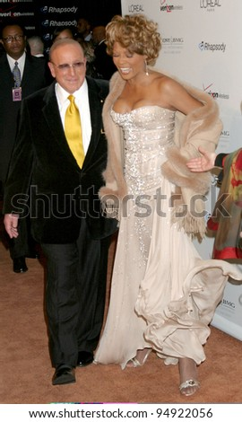 LOS ANGELES - FEB 10: Clive Davis, Whitney Houston arrives at the Clive Davis Annual Pre-Grammy Party at Beverly Hilton Hotel on February 10, 2007 in Beverly Hills, CA - stock photo