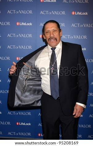 "LOS ANGELES - FEB 13:  Danny Trejo arrives at the ""Act of Valor"" LA Premiere at the ArcLight Theaters on February 13, 2012 in Los Angeles, CA"