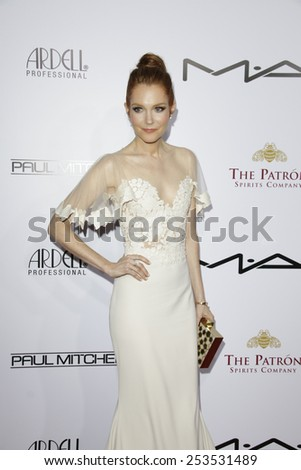 LOS ANGELES - FEB 14: Darby Stanchfield at the Make-Up Artists & Hair Stylists Guild Awards at the Paramount Theater on February 14, 2015 in Los Angeles, CA - stock photo