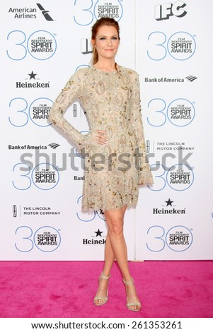 LOS ANGELES - FEB 21:  Darby Stanchfield at the 30th Film Independent Spirit Awards at a tent on the beach on February 21, 2015 in Santa Monica, CA - stock photo