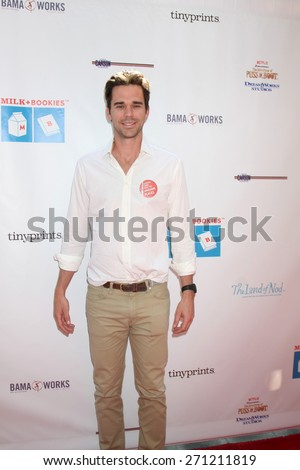 LOS ANGELES - FEB 19:  David Walton at the Milk+Bookies Sixth Annual Story Time Celebration at the Toyota Grand Prix Racecourse on April 19, 2015 in Long Beach, CA - stock photo