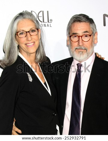 LOS ANGELES - FEB 14:  Deborah Nadoolman Landis, John Landis at the 2015 Make-up and Hair Stylists Guild Awards at a Paramount Theater on February 14, 2015 in Los Angeles, CA - stock photo