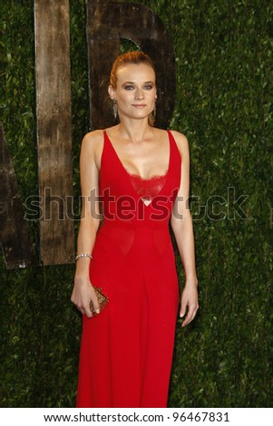 LOS ANGELES - FEB 26:  Diane Kruger arrives at the 2012 Vanity Fair Oscar Party  at the Sunset Tower on February 26, 2012 in West Hollywood, CA