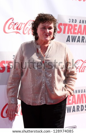 LOS ANGELES - FEB 17:  Dot Marie Jones arrives at the 2013 Streamy Awards at the Hollywood Palladium on February 17, 2013 in Los Angeles, CA - stock photo