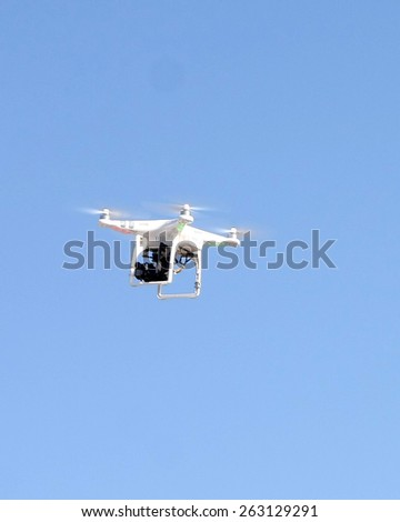 LOS ANGELES - FEB 21:  drone at the Grand Prix of Long Beach Pro/Celebrity Race Training at the Willow Springs International Raceway on March 21, 2015 in Rosamond, CA - stock photo