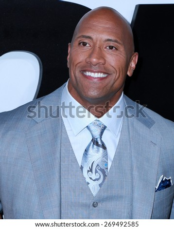 "LOS ANGELES - FEB 1:  Dwayne Johnson at the ""Avengers; Age Of Ultron"" Los Angeles Premiere at the TCL Chinese Theater on April 1, 2015 in Los Angeles, CA - stock photo"