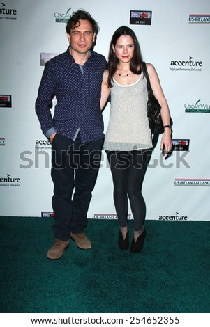 LOS ANGELES - FEB 19:  Elaine Cassidy, Stephen Lord at the Oscar Wilde US-Ireland Pre-Academy Awards Event at a Bad Robot on February 19, 2015 in Santa Monica, CA - stock photo