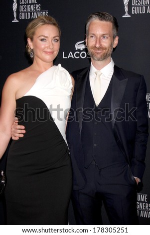 LOS ANGELES - FEB 22:  Elisabeth Rohm, Michael Wilkinson at the 16th Annual Costume Designer Guild Awards at Beverly Hilton Hotel on February 22, 2014 in Beverly Hills, CA