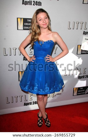 """LOS ANGELES - FEB 14:  Elise Luthman at the """"Little Boy"""" Los Angeles Premiere at the Regal 14 Theaters on April 14, 2015 in Los Angeles, CA - stock photo"""