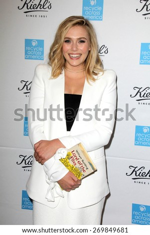 LOS ANGELES - FEB 15:  Elizabeth Olsen at the Kiehls Earth Day Creamy Eye Treatment at the Kiehls on April 15, 2015 in Santa Monica, CA - stock photo