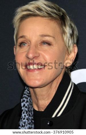 LOS ANGELES - FEB 10:  Ellen DeGeneres at the SAINT LAURENT At The Palladium at the Hollywood Palladium on February 10, 2016 in Los Angeles, CA - stock photo