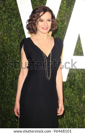 LOS ANGELES - FEB 26:  Emily Mortimer arrives at the 2012 Vanity Fair Oscar Party  at the Sunset Tower on February 26, 2012 in West Hollywood, CA