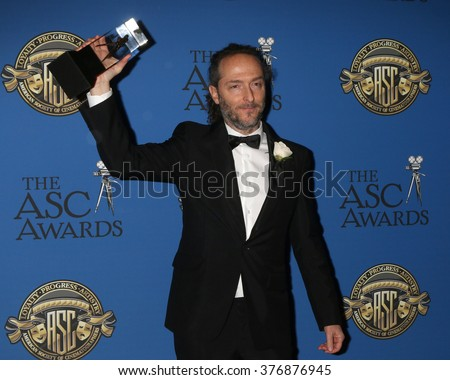 LOS ANGELES - FEB 14:  Emmanuel Lubezki at the 2016 American Society of Cinematographers Awards at the Century Plaza Hotel on February 14, 2016 in Century City, CA - stock photo