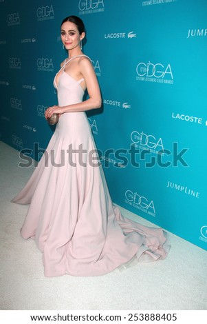 LOS ANGELES - FEB 17:  Emmy Rossum at the 17th Costume Designers Guild Awards at a Beverly Hilton Hotel on February 17, 2015 in Beverly Hills, CA - stock photo