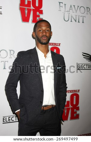 "LOS ANGELES - FEB 13:  Eric Hill Jr. at the ""Brotherly Love"" LA Premiere at the Silver Screen Theater at the Pacific Design Center on April 13, 2015 in West Hollywood, CA - stock photo"