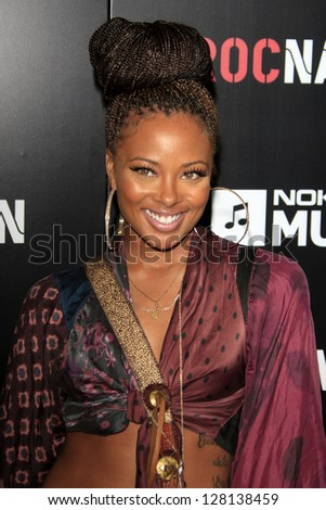 LOS ANGELES - FEB 9:  Eva Marcille arrives at the ROC NATION Annual Pre-Grammy Brunch at the Soho House on February 9, 2013 in West Hollywood, CA - stock photo