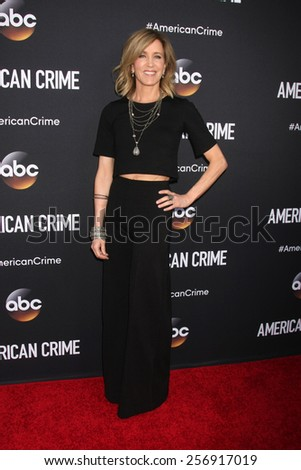 "LOS ANGELES - FEB 28:  Felicity Huffman at the ""American Crime"" Premiere Screening at the The Theatre at Ace Hotel on February 28, 2015 in Los Angeles, CA"