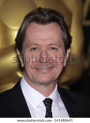 LOS ANGELES - FEB 6:  GARY OLDMAN arrives to the 2012 Academy Awards Nominee Luncheon  on Feb 6, 2012 in Beverly Hills, CA - stock photo
