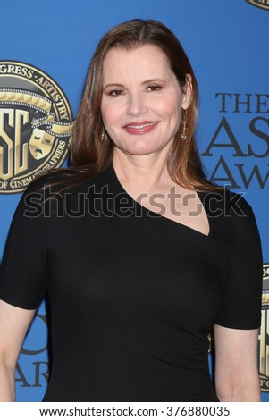 LOS ANGELES - FEB 14:  Geena Davis at the 2016 American Society of Cinematographers Awards at the Century Plaza Hotel on February 14, 2016 in Century City, CA - stock photo