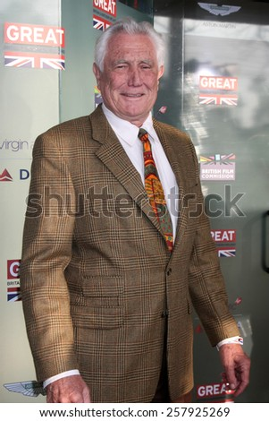 LOS ANGELES - FEB 20:  George Lazenby at the GREAT British Film Reception Honoring The British Nominees Of The 87th Annual Academy Awards at a London Hotel on February 20, 2015 in West Hollywood, CA - stock photo