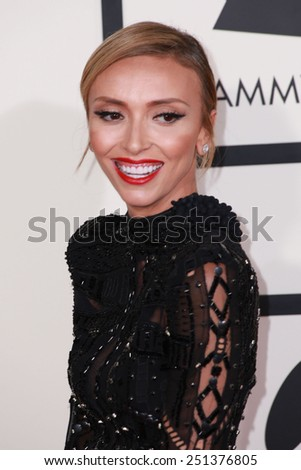 LOS ANGELES - FEB 8:  Giuliana Rancic at the 57th Annual GRAMMY Awards Arrivals at a Staples Center on February 8, 2015 in Los Angeles, CA - stock photo