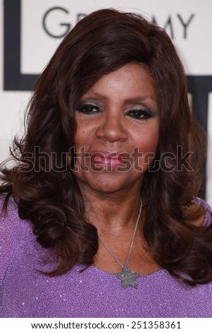 LOS ANGELES - FEB 8:  Gloria Gaynor at the 57th Annual GRAMMY Awards Arrivals at a Staples Center on February 8, 2015 in Los Angeles, CA - stock photo