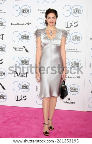 LOS ANGELES - FEB 21:  Helena Noguerra at the 30th Film Independent Spirit Awards at a tent on the beach on February 21, 2015 in Santa Monica, CA - stock photo