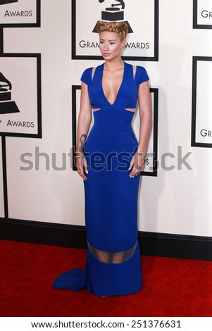 LOS ANGELES - FEB 8:  Iggy Azalea at the 57th Annual GRAMMY Awards Arrivals at a Staples Center on February 8, 2015 in Los Angeles, CA - stock photo