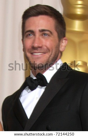 LOS ANGELES -  FEB 27: Jake Gyllenhaal arrives in the Press Room at the 83rd Academy Awards at Kodak Theater, Hollywood & Highland on February 27, 2011 in Los Angeles, CA - stock photo