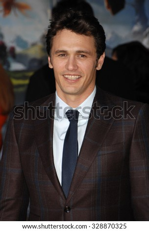 LOS ANGELES - FEB 13 - James Franco arrives at the Oz The Great and Powerful World Premiere on February 13, 2013 in Los Angeles, CA              - stock photo