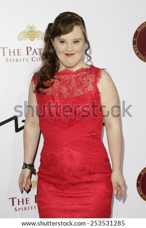 LOS ANGELES - FEB 14: Jamie Brewer at the Make-Up Artists & Hair Stylists Guild Awards at the Paramount Theater on February 14, 2015 in Los Angeles, CA - stock photo