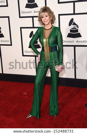 LOS ANGELES - FEB 08:  Jane Fonda arrives to the Grammy Awards 2015  on February 8, 2015 in Los Angeles, CA                 - stock photo