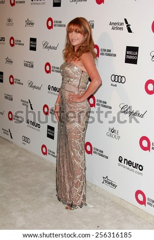 LOS ANGELES - FEB 22:  Jane Seymour at the Elton John Oscar Party 2015 at the City Of West Hollywood Park on February 22, 2015 in West Hollywood, CA - stock photo
